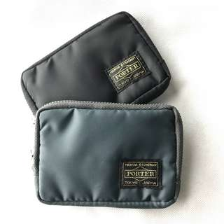 💥CHEAPEST - Porter Premium Quality Small Wallet for Coins & Cards with Back External Zipper