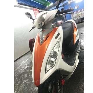 自售 光陽KYMCO G5 125Fi 白橙色