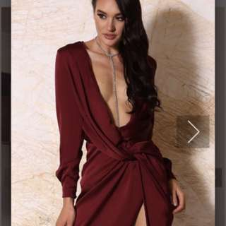 Meshki Burgundy dress