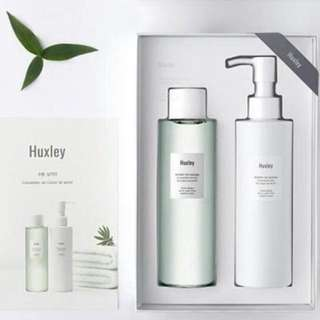 Huxley be clean be moist cleansing gel cleansing water set