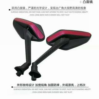 Motorbike / mobile scooter / bicycles side Mirror ( col. RED/Black )