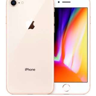 iPhone 8 金色 64gb 全新未開封