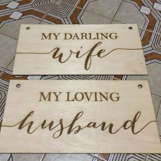Wooden Displays for solemnization