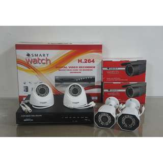 CCTV 1080P Full HD with 1TR Storage (2pcs D029W and 2pcs B032W)