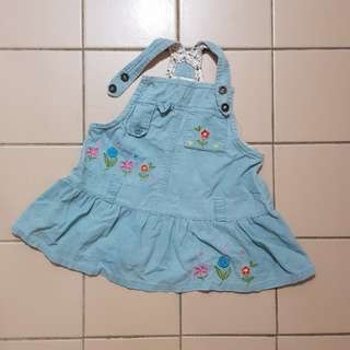 Baby jeans sling dress
