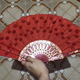 Red Fan for wedding day