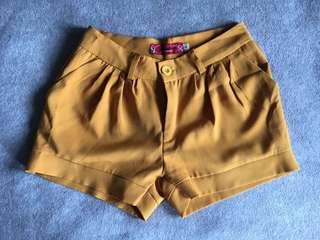 Mustard Yellow Shorts