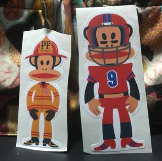 Paul frank rugby fireman edition 2 pcs stickers ideal for laptop etc