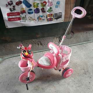 Minnie kiddie push bike