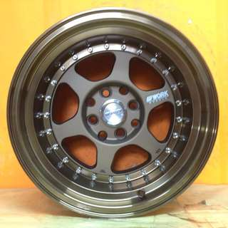 15 inch SPORT RIM WORK MEISTER L1 RACING WHEELS 8.5J