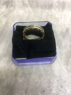 14K YG & WG Bulgari Design Ladies Ring