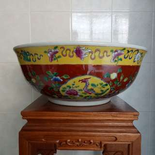 Nyonya Style Basin Sink Red Colors