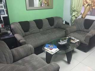 Sala set (Sofas only) slightly used- Moving out RUSH