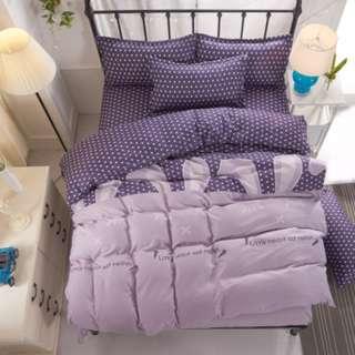 [898]  3/4pcs Cotton BedSheet AB [Single/Super Single/Queen/King/Super King] #BS055 #ezwayenterprise #FreeWMPosatge