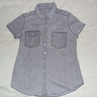 Charity Sale! Authentic Now Boys Dress Shirt Size 10 Grey Polo