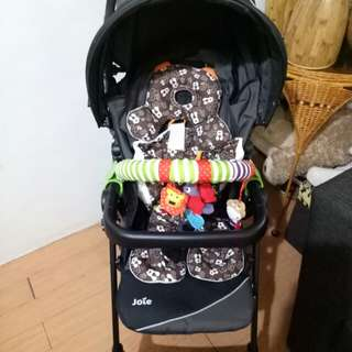 Joie stroller with carseat (black)