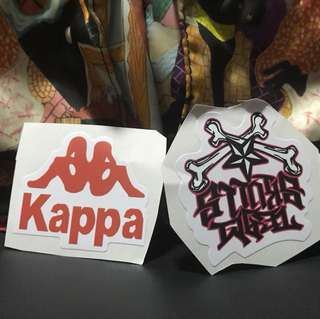 Kappa 2 pcs stickers ideal for laptop etc
