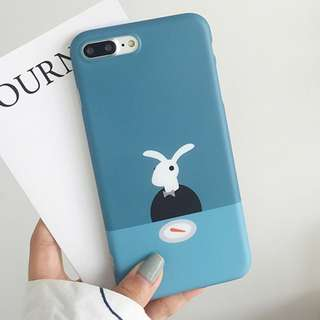 #手機殼IPhone6/7/8/plus/X : 簡約文藝小兔子