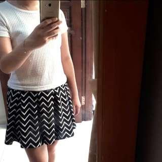Rok celana stripes