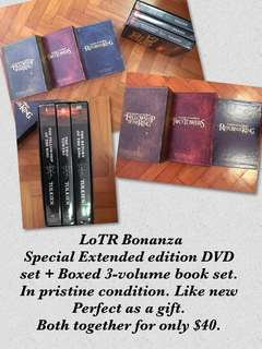 LotR Extravaganza - trilogy of extended DVD & books