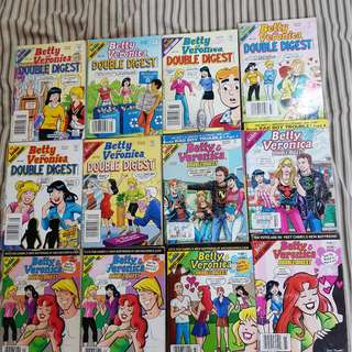 Betty & Veronica Double Digest Comic Books