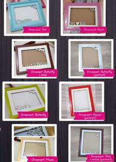 Personalised Poly Photo Frames*