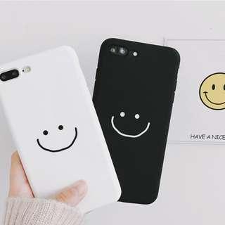#手機殼IPhone6/7/8/plus/X : 簡約笑臉情侶款