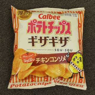 卡樂B厚切清雞湯波浪薯片