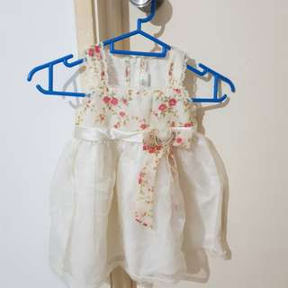 Pretty floral Baby Gown