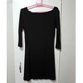 Dark Brown Plain Dress