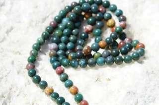 Bloodstone mala necklace