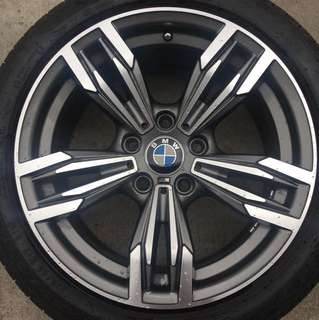 "17"" rims fits BMW 1 and 3 series with tyres"