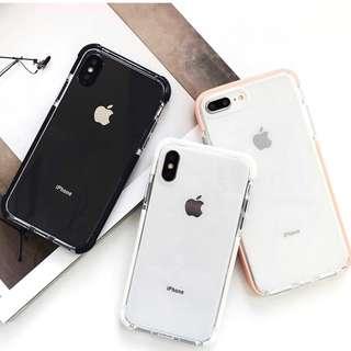 #手機殼IPhone6/7/8/plus/X : 簡約純色透明