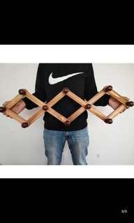大号木质伸缩衣架挂钩挂门上的衣服挂钩包包挂钩墙壁墙上壁挂架子