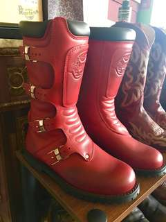 STYLMARTIN RED RIDING BOOTS SIZE 7