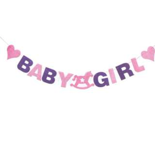 BABY Girl Pink Purple Banner