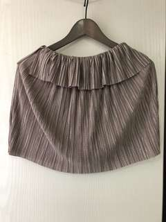 off the shoulder silver top