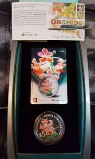 2006 Heritage orchid of Singapore silver proof coin.