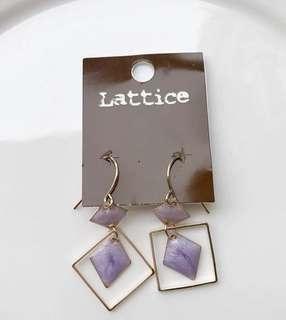 日本Lattice耳環 兩隻顏色
