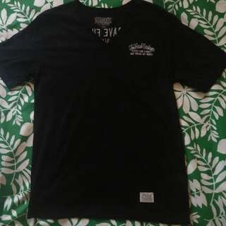The stooge black embroidery shirt