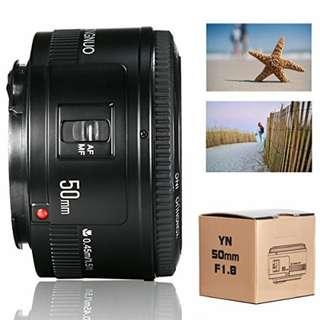 NEW!! Lensa Fix Yongnuo 50mm f1.8 for Canon DSLR