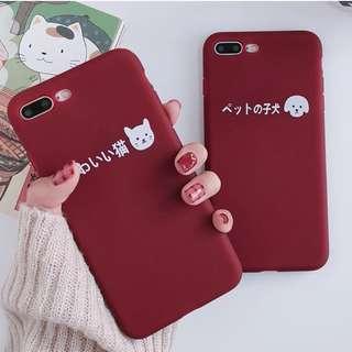 #手機殼IPhone6/7/8/plus/X : 日系貓咪狗狗