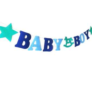 BABY BOY Blue Green Banner