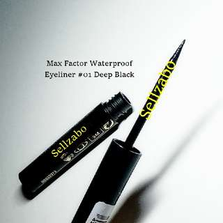 Waterproof Max Factor #Deep Black Eyeliner Eyesliner Eyes Liners Makeup Cosmetics Beauty Tone Colour Face Facial Draw Drawing Line