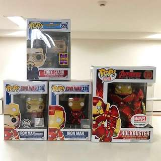 Funko Pop - Iron-Man Set