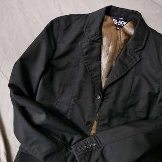 Size M BLACK Comme des Garçons blazer