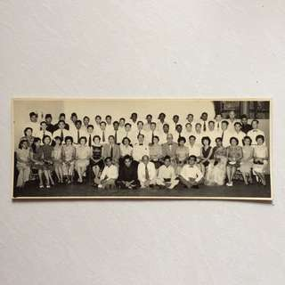 Vintage Old Photo - Old Black & White Group Photo (25 By 9.5 cm)