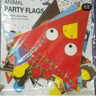 Like new animal party flags