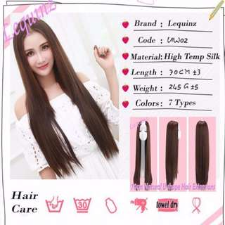 U Shape Long Thick Hair Extensions Straight 70cm