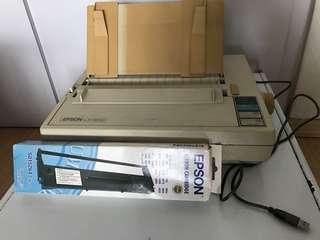 Epson LX-800 Dotmatrix Printer c/w Ribbon Cartidge